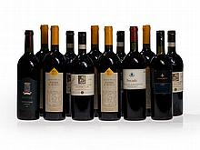 12 bottles of wine from Tuscany, 1994, 1995 and 1997 vintages