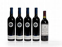 5 bottles Margaret River Cabernet Sauvignon from 1996 and 1999
