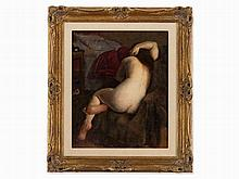 Andor Basch (1885-1944), Seated Nude, Oil Painting, France