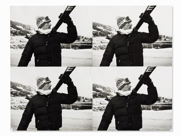 Andy Warhol, Jon Gould with Skis, 1976-1986Jon Gould