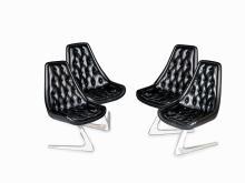 "Chromcraft, Set of Four ""Sculpta"" Chairs, USA, 1966"