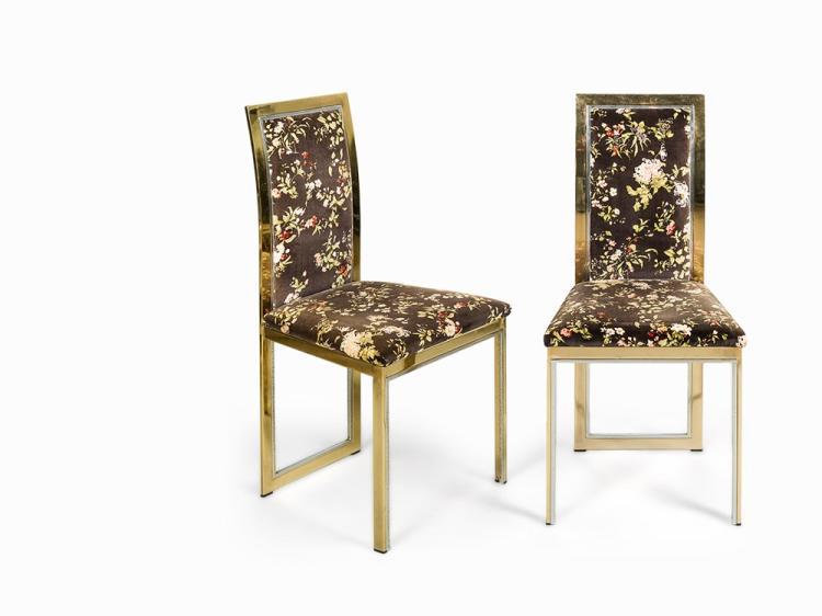 Romeo Rega, Eight Dining Chairs, 1970s