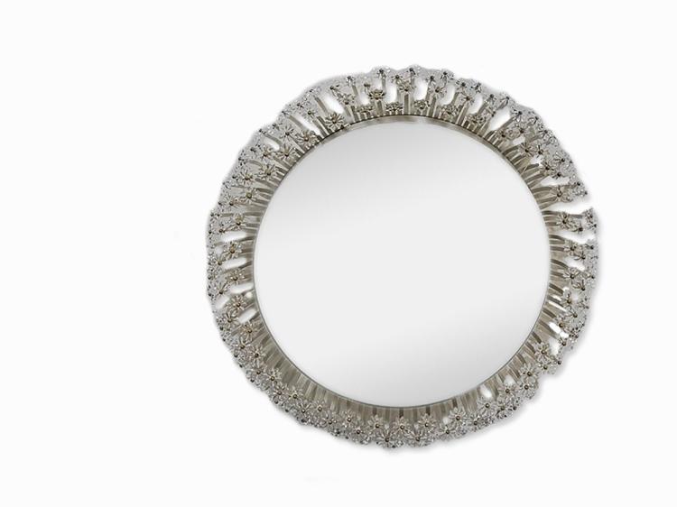 Floral Lucite mirror