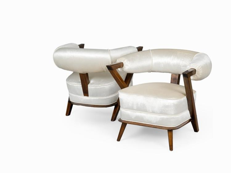 "Pair of ""Tub"" Armchairs, Italy, 1960s"