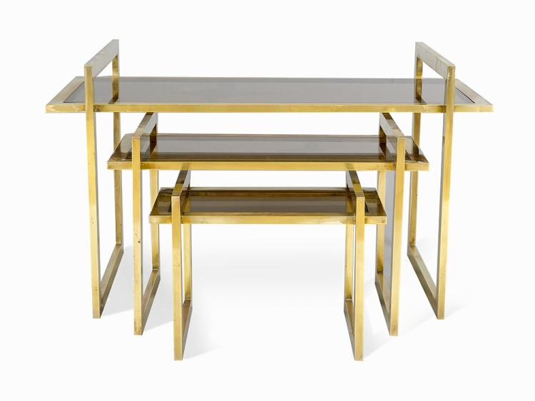 Set of Three Nesting Tables. Italy, c1950