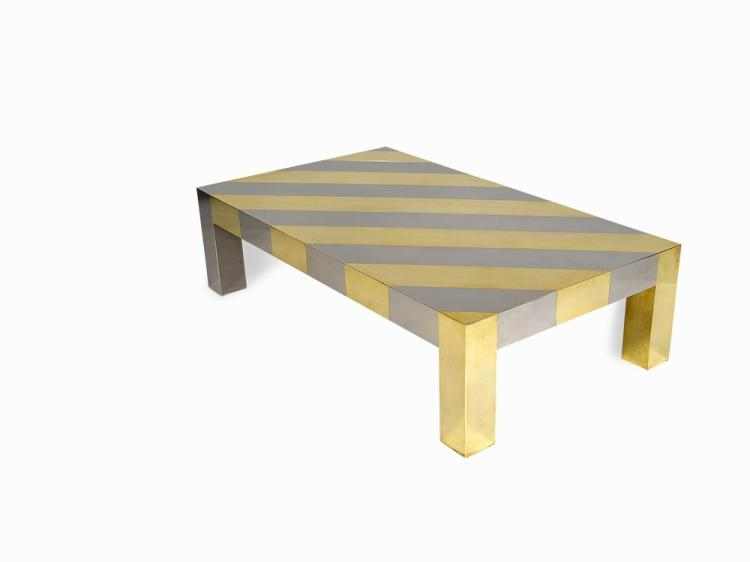 Gabriella Crespi, Occasional Table with Stripes, Italy, 1970s