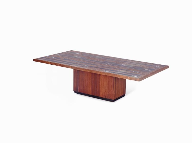 Resin and Wood Centre Table, Germany, c1960s/1970s