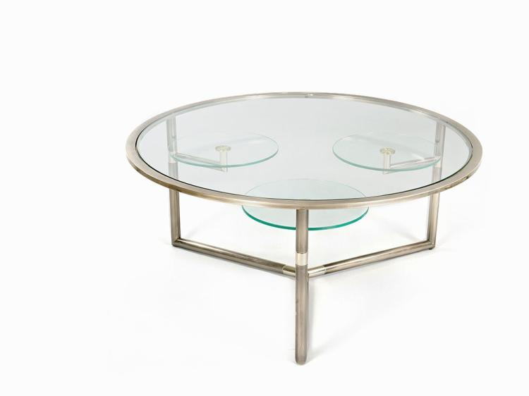 Table with Rotating Lower Tables, France, c.1965/1970