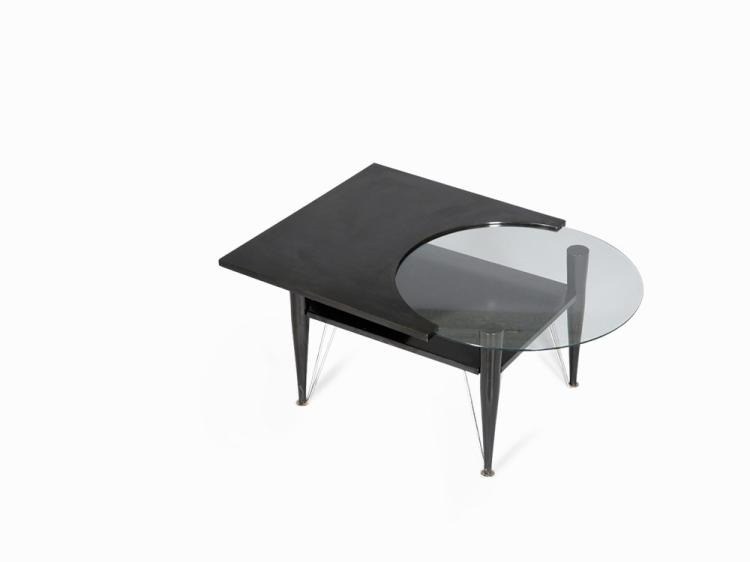 Modernist Black Coffee Table, Italy, early 1980s