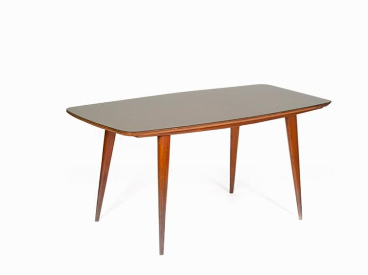 Wood Dining Table, Italy, 1950s