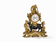 Ormolu Clock, Europa & Bull after Saint-Germain, Paris, 19th C.