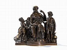 Jean-Baptiste Clésinger, Allegory, Bronze Bust, France c. 1860