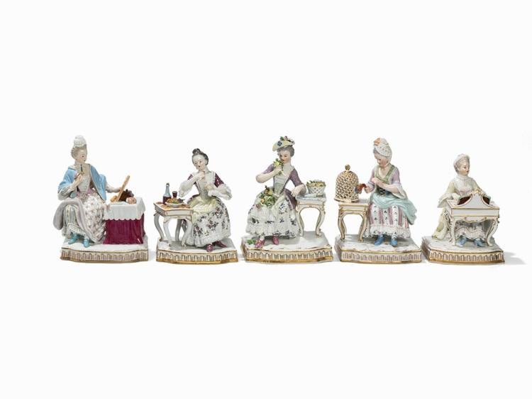 "A Meissen Series, Allegory of the ""Five Senses"", 2nd H. 19th"