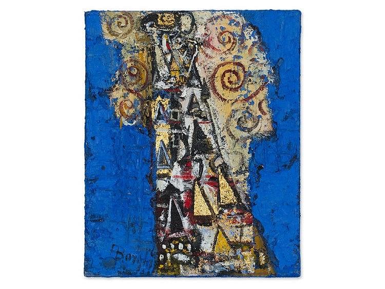Alfonso Borghi (b. 1944), 'Cartoni per il Fregio Stoclet', 2007