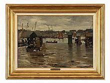 Alfred Guillou (1844-1925), Harbor Of Corncarneau, c. 1900
