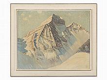 Johann Georg Dreydorff, Mountain View in Engadin Valley, 1927