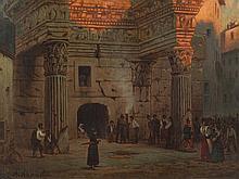Albert Gustav Schwartz, Minerva Temple in Rom, 2nd H. 19th C.