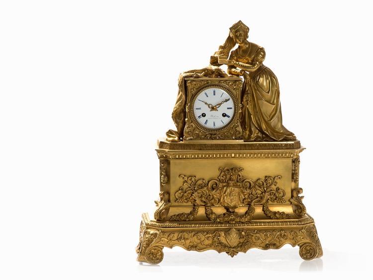 A Historicising Figural Mantel Clock, France, c. 1870