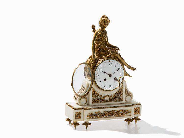 A Figural Clock with Diana, G. Mégnin, France, Late 19th C