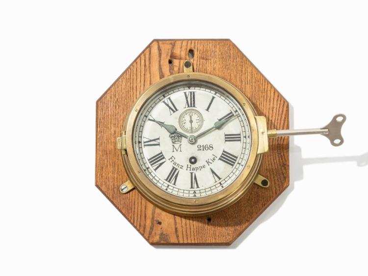 Franz Happe Kiel, Marine Wall Chronometer M 2168, 20th C.