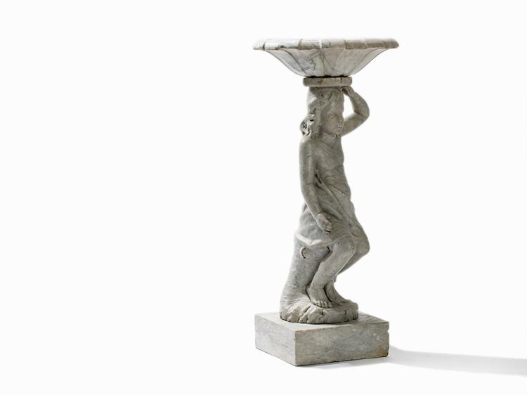 A Marble Fountain Figure of a Boy Balancing a Bowl, 19th C.