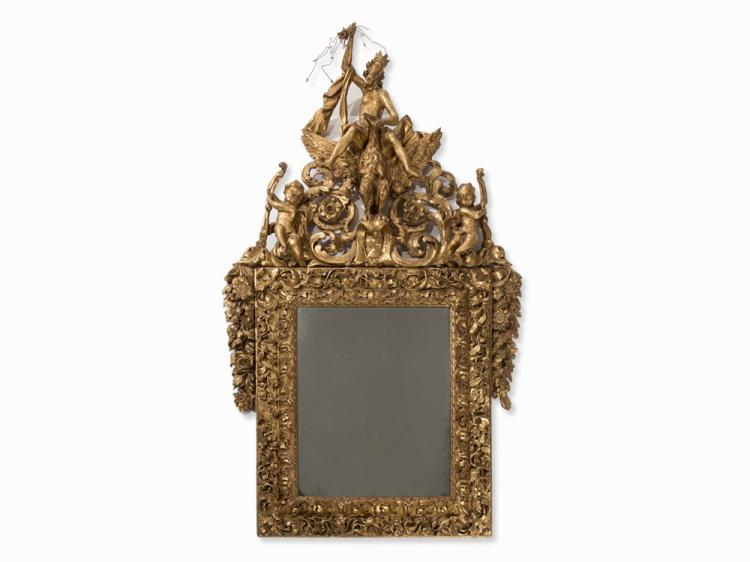 A Mirror with Zeus, Italy, late 17th C.