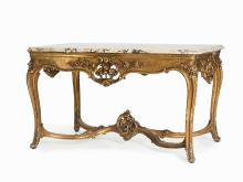 A Magnificent Louis XV Style Center Table, France, 19th C.