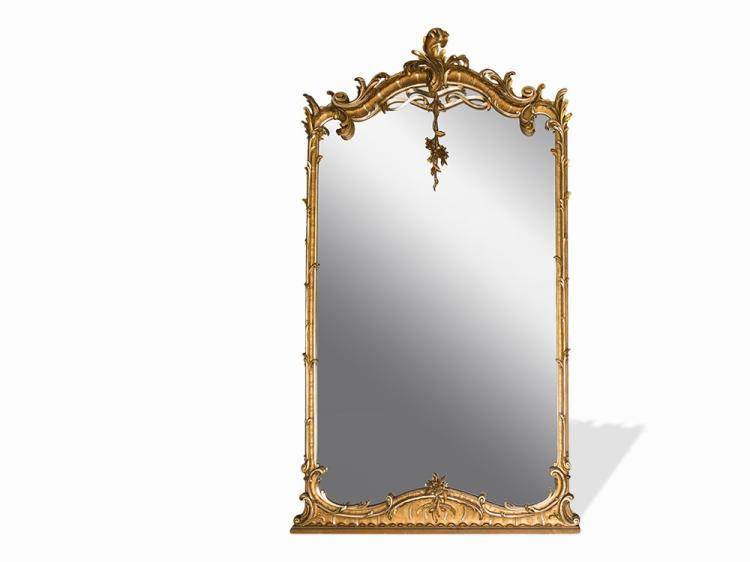 A Magnificent Louis XV Style Mirror, France, Mid-19th C.