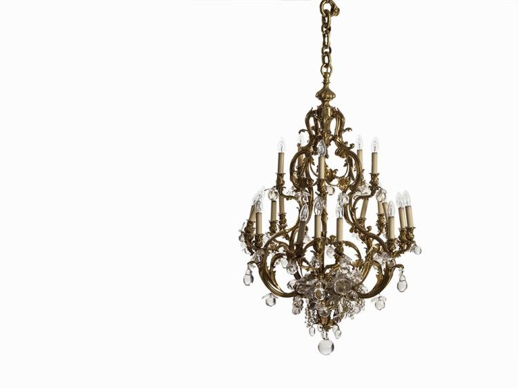 A Large Chandelier with Lush Fruit Hangings, France, 19th C
