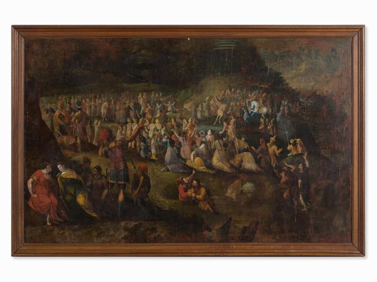 Flemish School, Triumphal Procession, Oil, presumably 17th C.