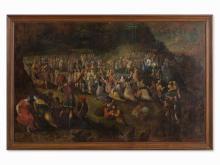 Flemish School, Triumphal Procession, Oil, presumably 17th C.