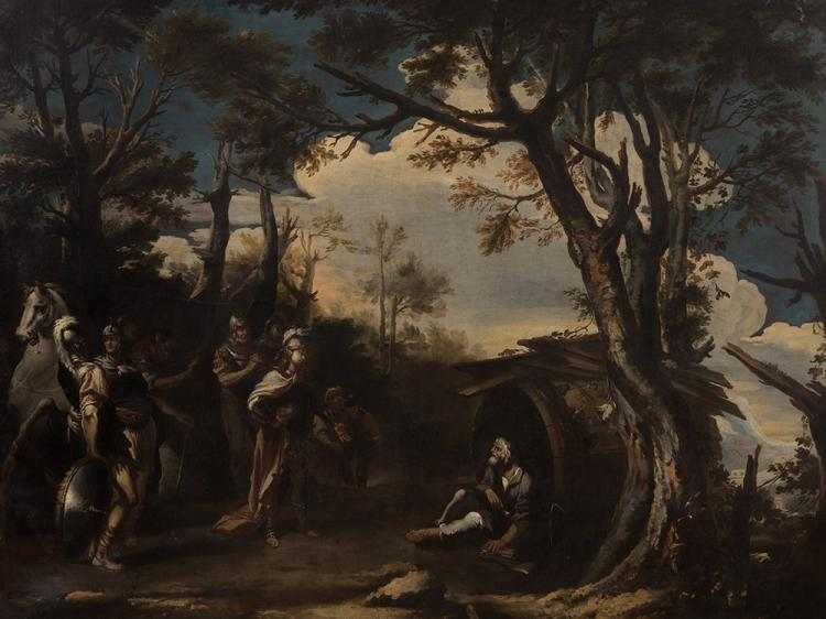 Copy after Salvator Rosa, Alexander and Diogenes, 18th/19thC.