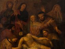 Flemish School, Entombment of Christ, Oil, around 1700