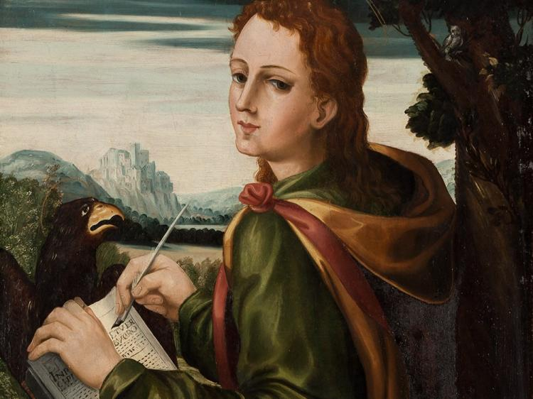 Roman School, The Evangelist John, Oil, c. 1540/50