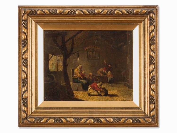 Follower of David II Teniers, Genre Scene, Oil Painting, 19th C