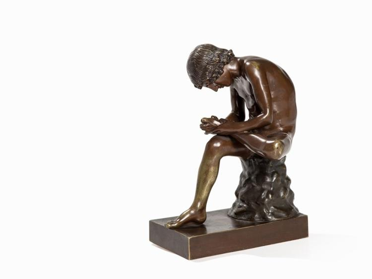 L. C. Busch, Bronze Figure 'Boy with Thorn', Berlin, E. 19th C.