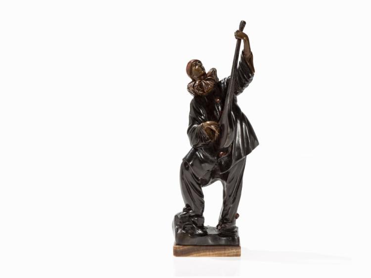Dimitri Chiparus, Pierrot à la Mandoline, Bronze, c. 1925