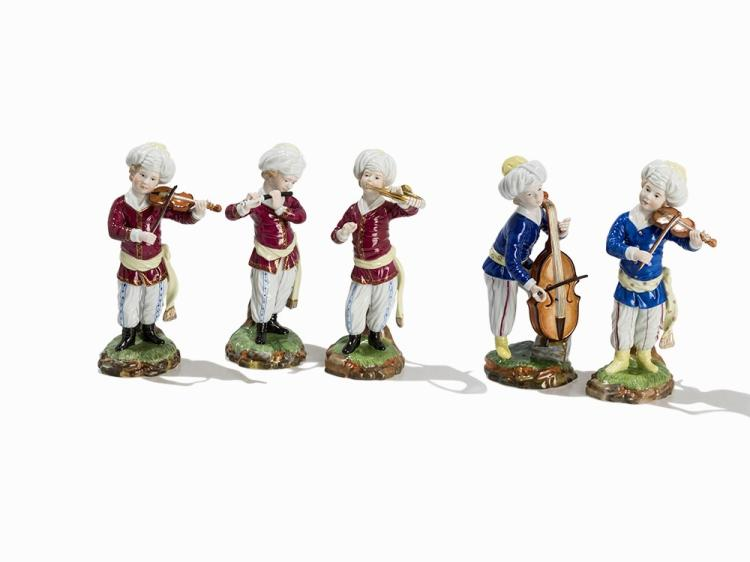 Porcelain Manufactory Höchst, 5 Figures of the Turk Chapel