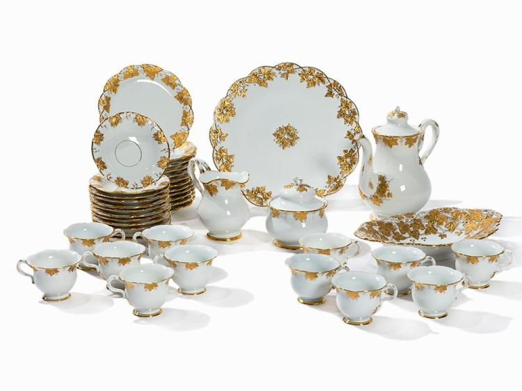 Meissen, Splendid Coffee Service for 12 Person, Mid-20th C