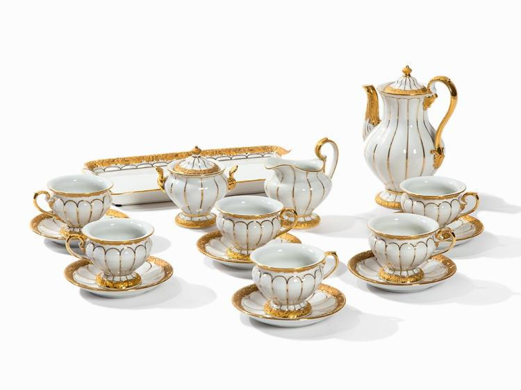 Mocha Service for 6 Persons, X-Form, Meissen, c. 1970