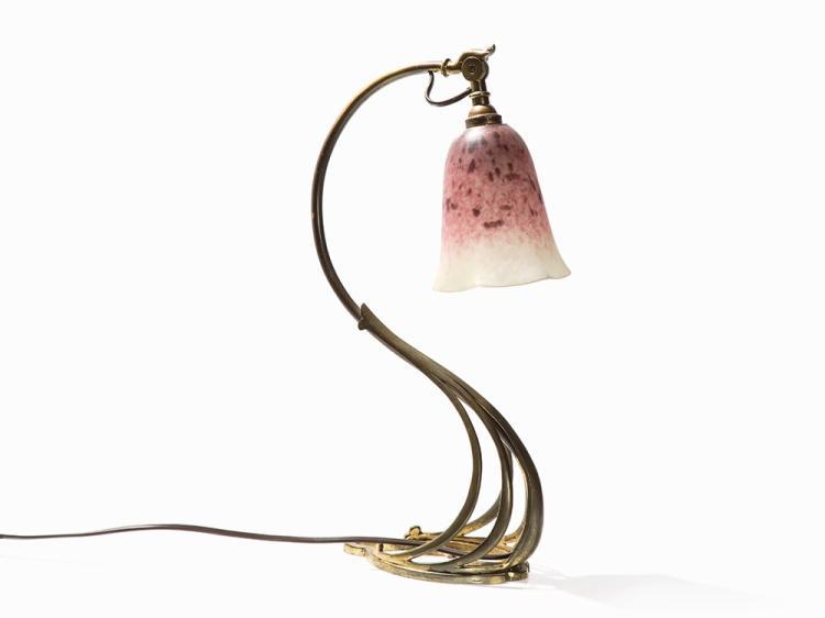 Verreries Schneider, Art Nouveau Table Lamp, France, 1920s