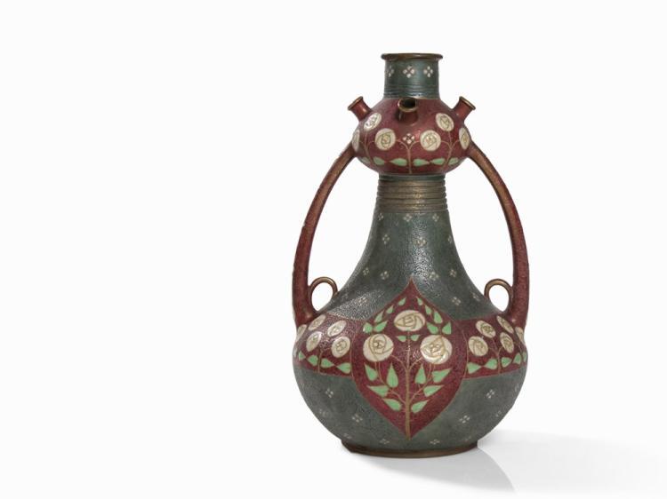 Paul Dachsel, Handle Vase, Ceramics, Turn-Teplitz, 1910