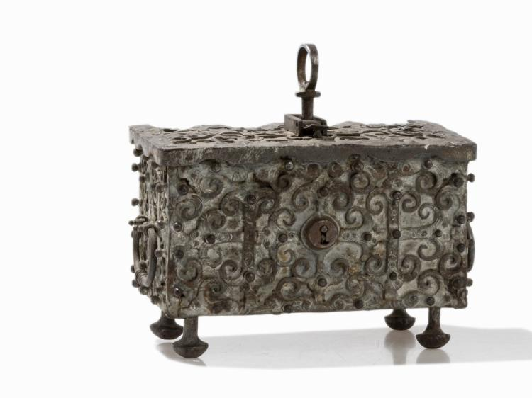 Rectangular Iron Casket, Southern Germany, around 1600