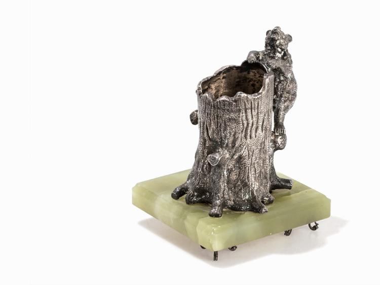 Silver Figure of a Climbing Bear, Russia, Late 19th C.