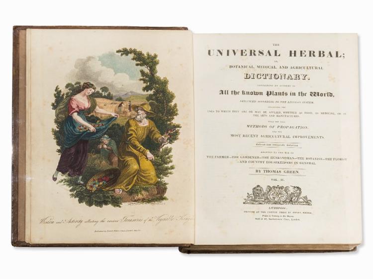 Thomas Green, The Universal Herbal, 2 Vol., Liverpool, 1816-20