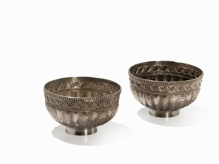 Pair of Silver Bowls, Ottoman Empire, 19th C.