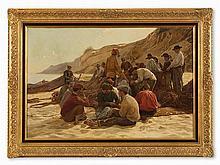 Kunz Meyer-Waldeck, Fisherman on the Beach, Oil Painting, 1923