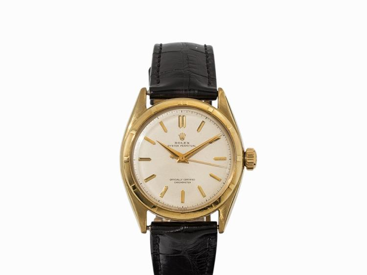 Rolex 'Semi Bubble' Back, 14K Gold, Switzerland, 1953