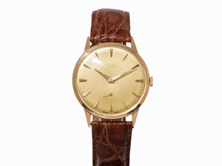 Zenith Vintage Wristwatch 18K Gold, Switzerland, 1960-1970