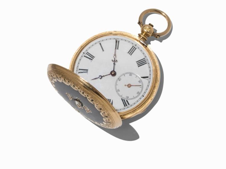 Pocket Watch, 18K Gold, Switzerland, c. 1890